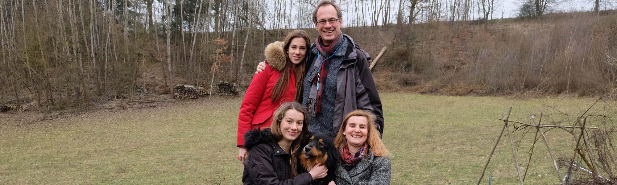 Familie Hieber mit Australian Sheperd Rüde Samson