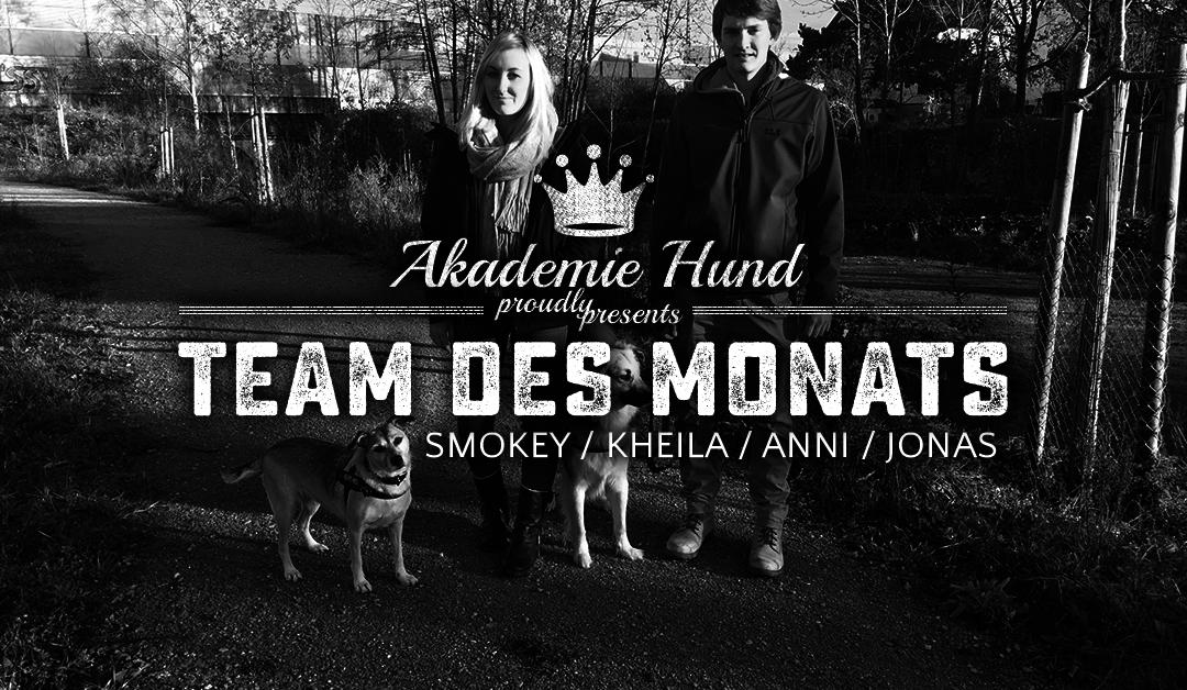 Team des Monats: Jonas, Anni, Kheila, Smokey